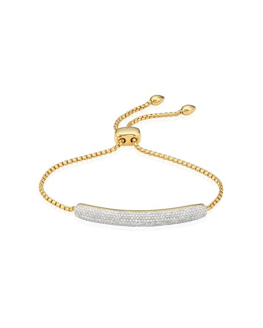 Monica Vinader - Metallic Esencia Diamond Bar Bracelet - Lyst