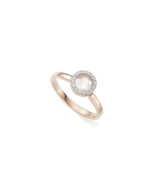 Monica Vinader | Pink Naida Mini Circle Ring | Lyst