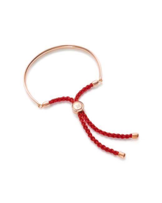Monica Vinader - Pink Fiji Friendship Petite Bracelet - Lyst