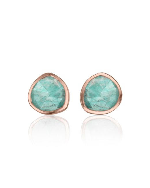 Monica Vinader - Blue Siren Stud Earrings - Lyst