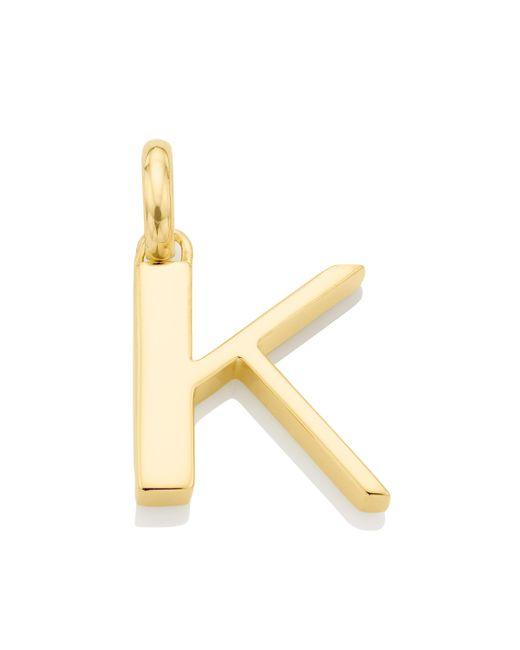 Monica Vinader - Metallic Alphabet Pendant K - Lyst