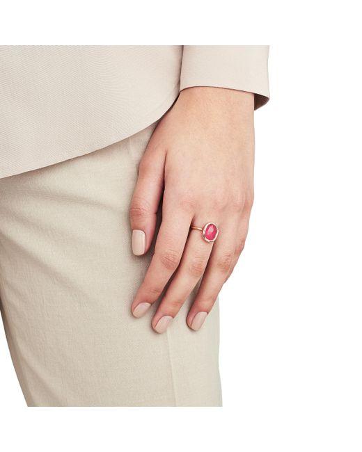 Rose Gold Siren Medium Stacking Ring Pink Quartz Monica Vinader uWxlirz