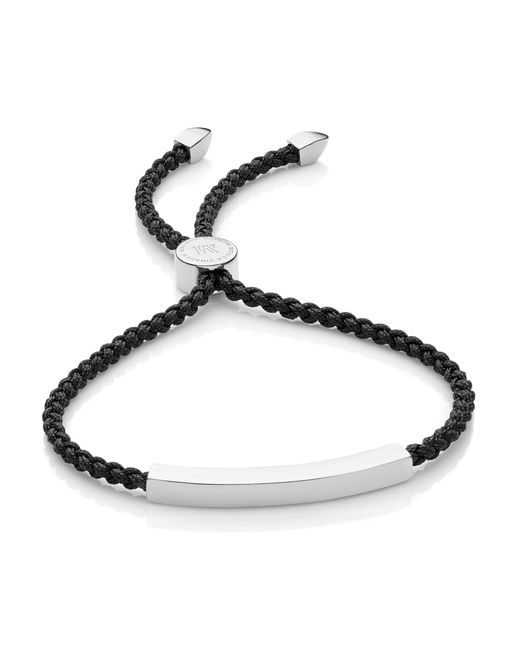 Monica Vinader Black Linear Friendship Bracelet