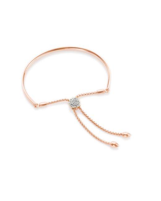 Monica Vinader | Pink Fiji Diamond Toggle Bracelet | Lyst