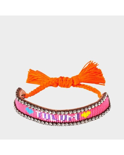Shourouk - Pink Tulum Bracelet - Lyst