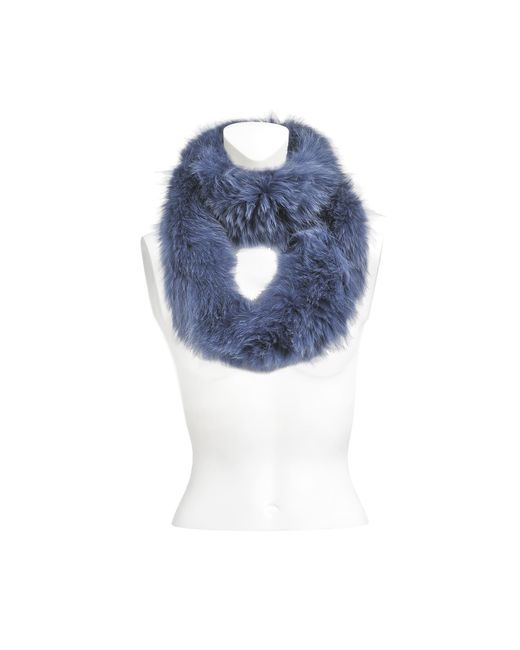 Yves Salomon - Blue Knitted Scarf Fox - Lyst