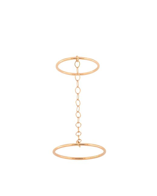 Ginette NY | Metallic Double Circle Ring | Lyst