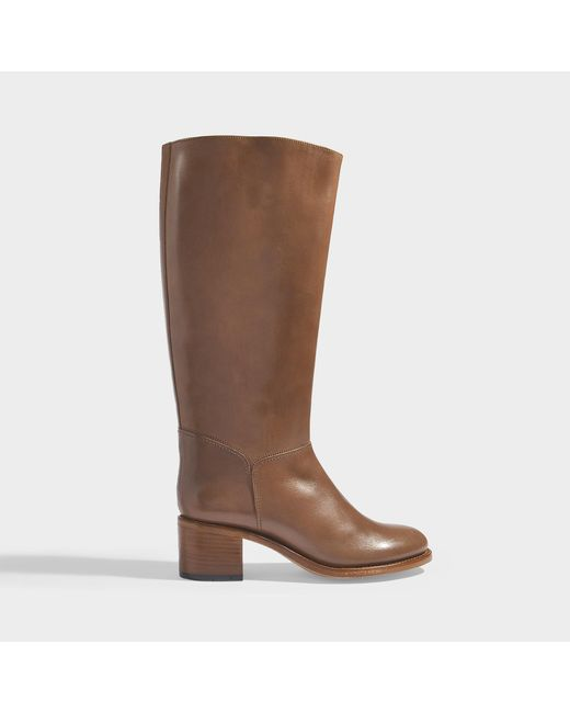 Dark Brown C P Brown Lyst In Long Boots in Smooth Iris Calfskin A BRYwqHY