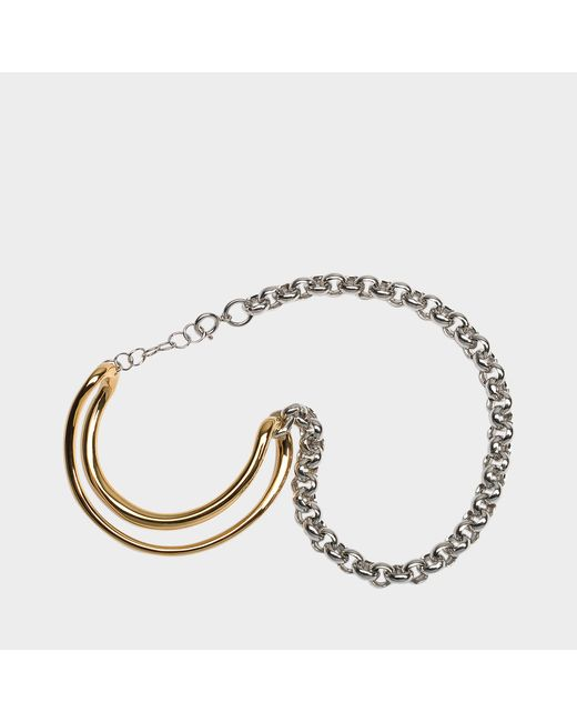 Charlotte Chesnais - Metallic Initial Chain Bracelet In Yellow Vermeil - Lyst