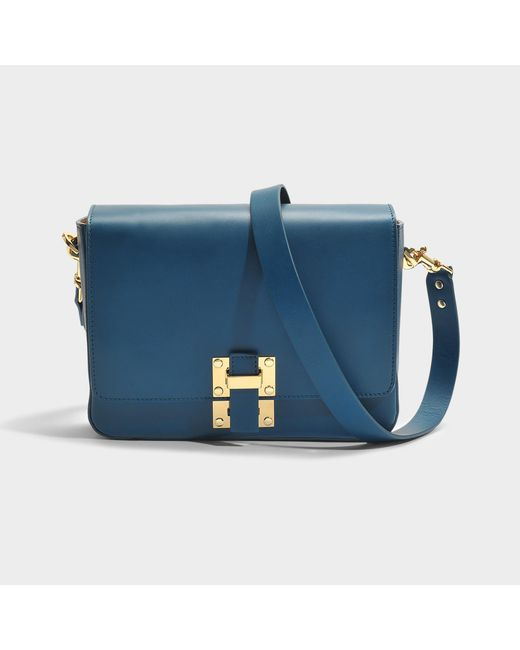 Sophie Hulme - Blue The Quick Large Bag In Canard Cow Leather - Lyst