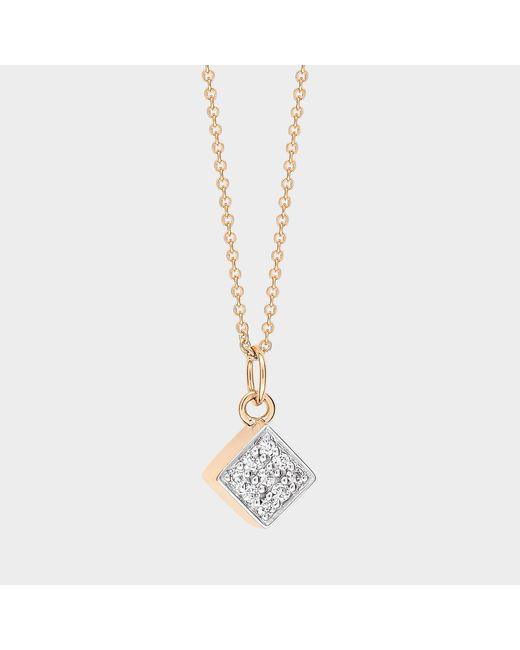 Ginette NY - Multicolor Mini Diamond Ever Square On Chain - Lyst