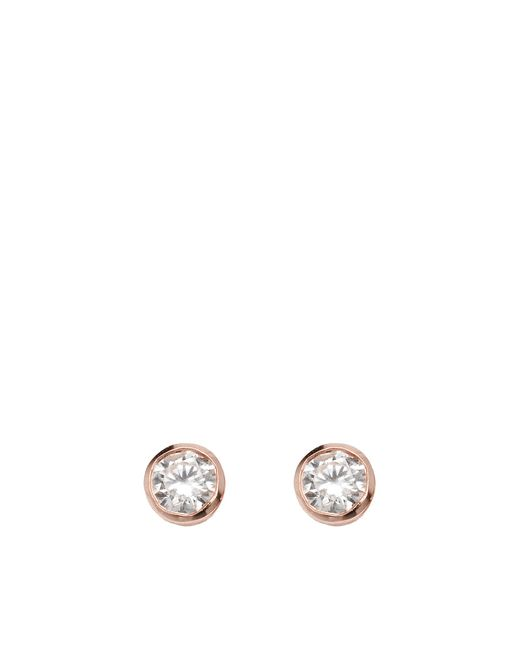Vanessa Tugendhaft | Metallic Solitaire Earrings | Lyst