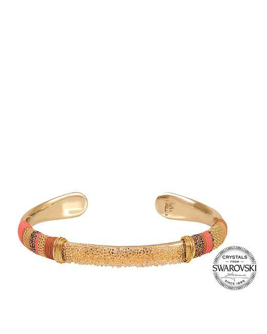 Gas Bijoux | Metallic Exclusive Massai Bracelet With Swarovski Crystals | Lyst