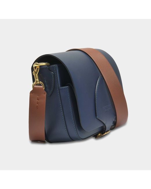 The Square Satchel Bag in Mid Indigo Soft Leather Burberry MSl2zq4RDt