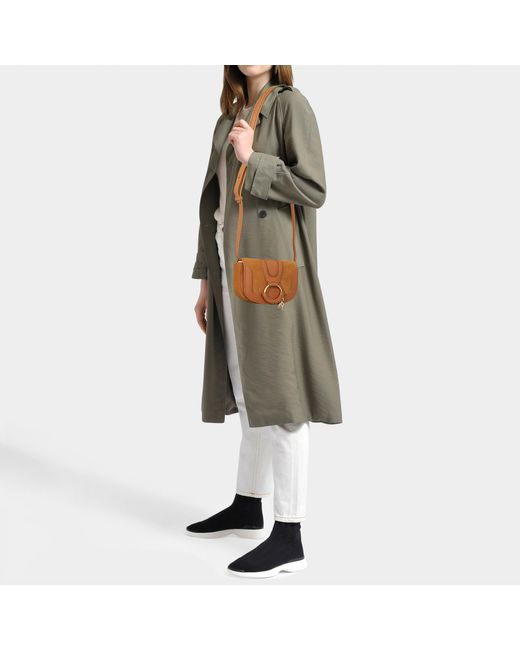 f265479c Women's Brown Hana Mini Crossbody Bag In Caramello Suede And Calfskin