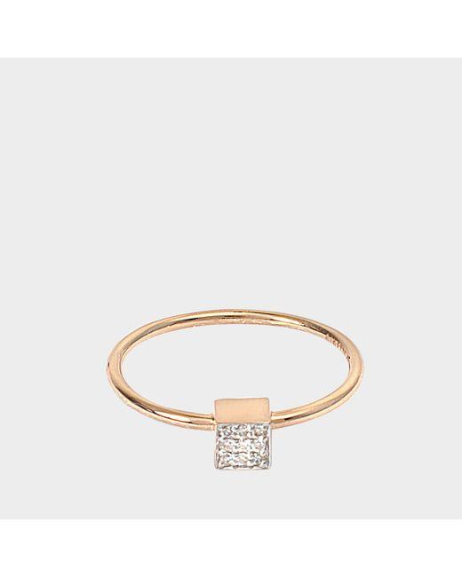 Ginette NY - Multicolor Mini Diamond Ever Square Ring - Lyst