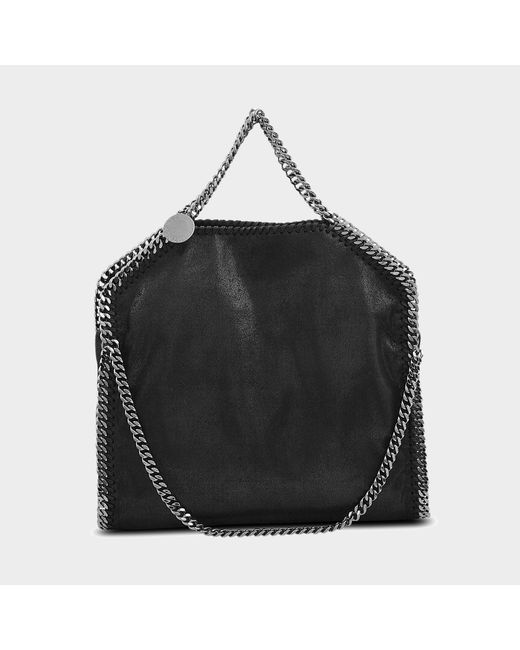 Stella McCartney - Black Falabella Three Chains Shaggy Deer Bag - Lyst
