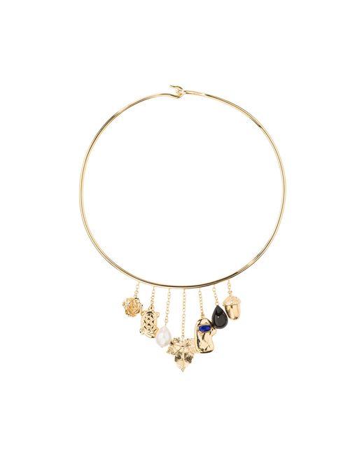 Aurelie Bidermann - Metallic Barbizon Necklace With Baroque Pearls And Black Agate - Lyst