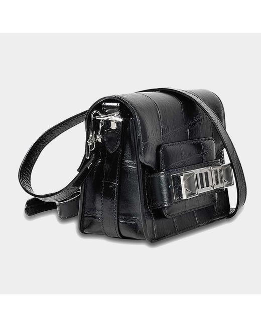 Ps11 Crossbody Bag in Black Embossed Giant Croc Leather Proenza Schouler fkbnd5