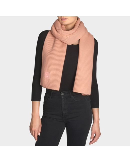 Acne - Pink Bansy Face Scarf - Lyst