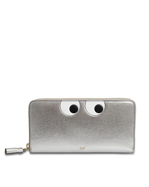 Anya Hindmarch - Multicolor Large Zip Round Wallet Eyes In Circus - Lyst