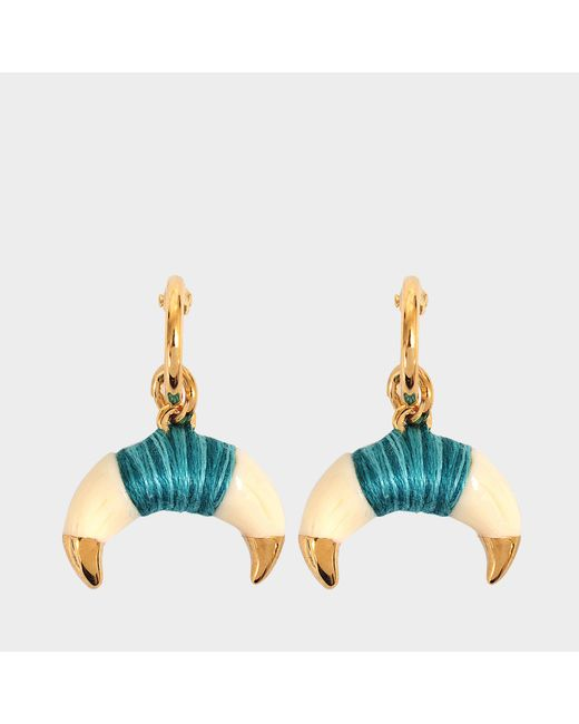 Aurelie Bidermann - Green Takayama Earrings With Bakelite Gold Horn - Lyst
