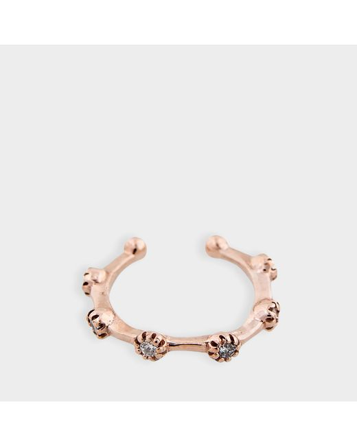 Jacquie Aiche - Pink Diamond Prong Set Ear Band In 14k Rose Gold And Diamonds - Lyst