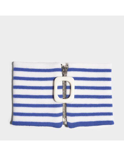 J.W. Anderson - Jwa Stripe Neckband In Blue Merino Wool - Lyst