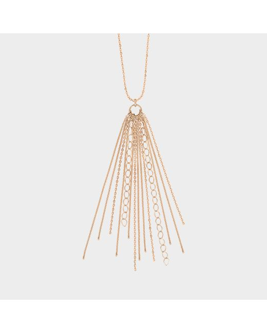 Ginette NY - Metallic Long Unchained Necklace - Lyst