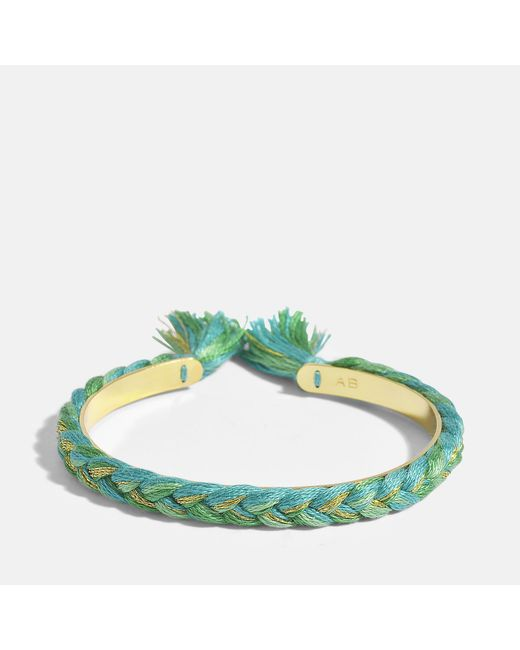 Aurelie Bidermann - Multicolor Copacabana Small Bangle Bracelet In Emerald Green 18k Gold-plated Brass - Lyst