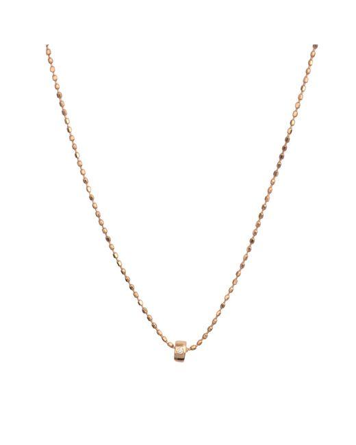 Ginette NY   Metallic Mini Tube & Diam Necklace   Lyst