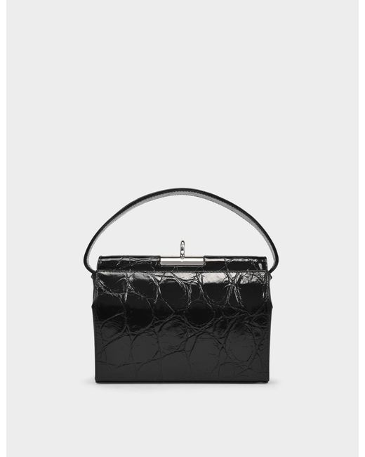 GU_DE Milky Bag With Chain In Black Leather