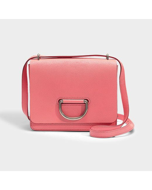 Burberry - Pink Small D-ring Bag In Black Goatskin - Lyst
