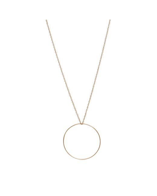 Ginette NY | Metallic Cercle Rose Gold Necklace | Lyst