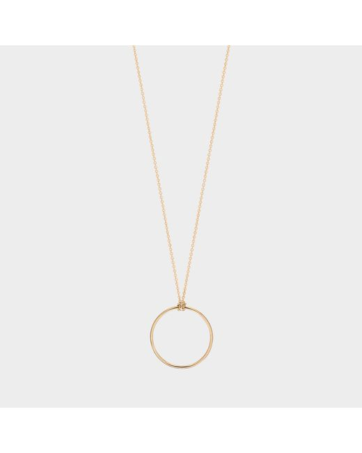 Ginette NY - Metallic Pink Gold Mini Circle Necklace - Lyst