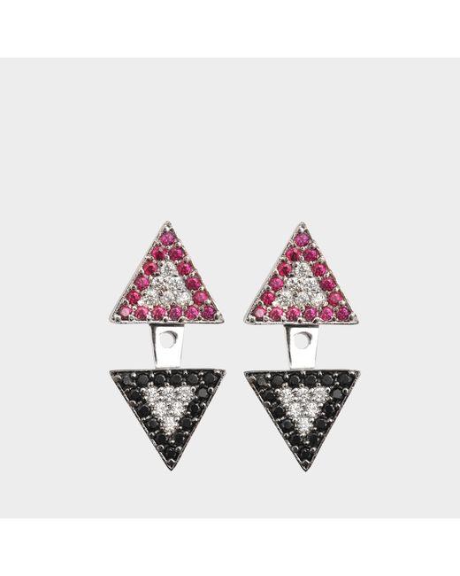 Joanna Laura Constantine - Multicolor Earjacket Americana Earrings - Lyst