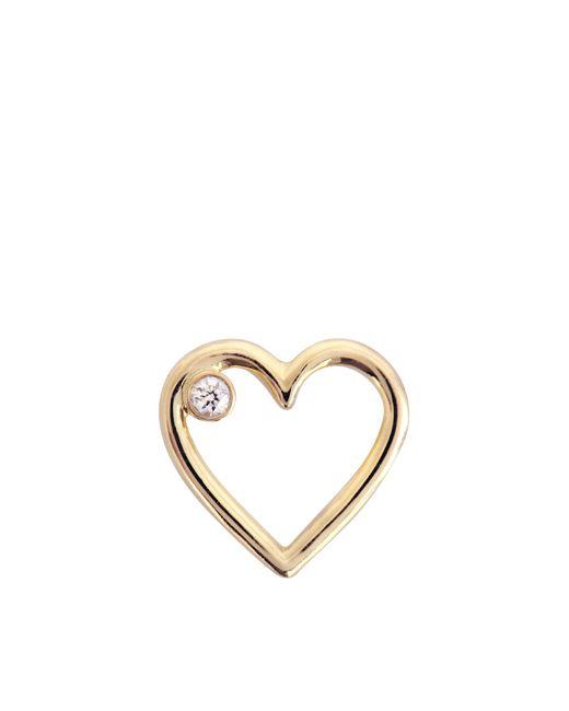 Aurelie Bidermann   Metallic Fine Jewellery - 18k Love Single Earring With Diamond   Lyst