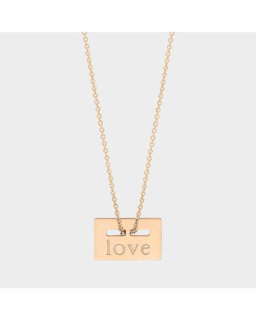 """Ginette NY - Metallic """"love"""" Rose Gold Plated Necklace - Lyst"""