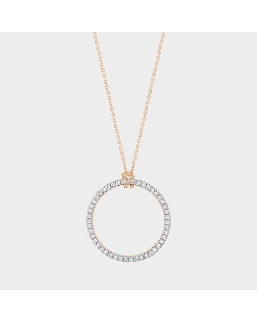 Ginette NY - Metallic Mini Diamond Circle On Chain Necklace - Lyst