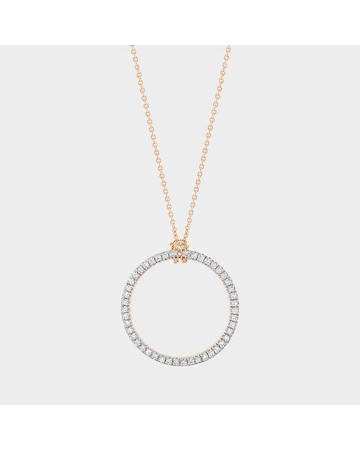 Ginette NY Metallic Mini Diamond Circle On Chain Necklace