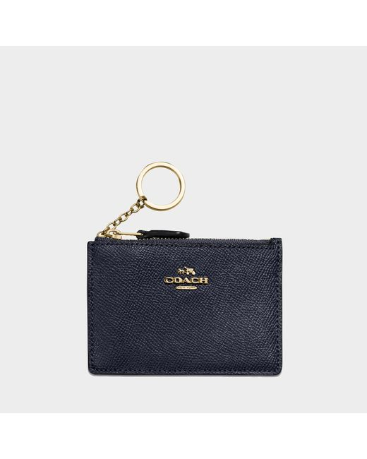 COACH - Blue Mini Id Skinny - Lyst