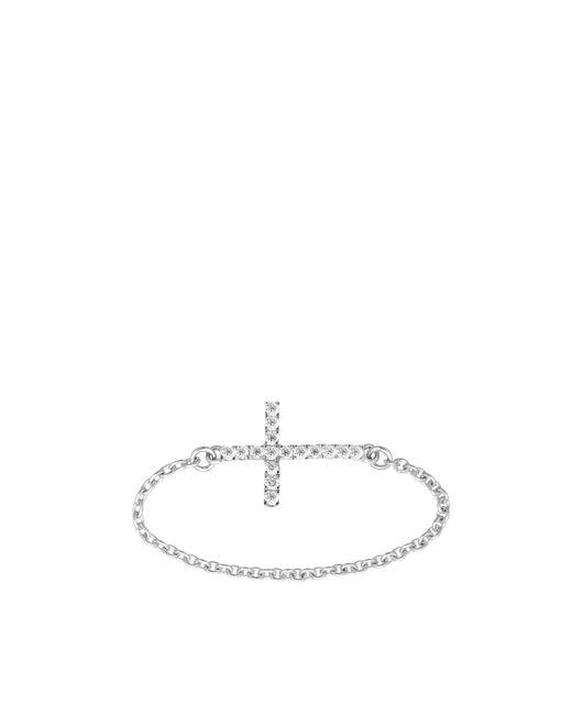 Vanessa Tugendhaft - Metallic Cross Ring - Lyst