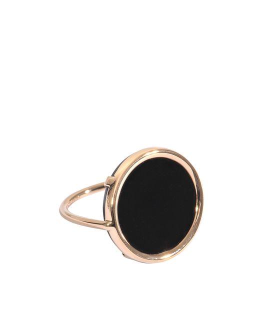 Ginette NY | Metallic Black Onyx Disc Ring | Lyst
