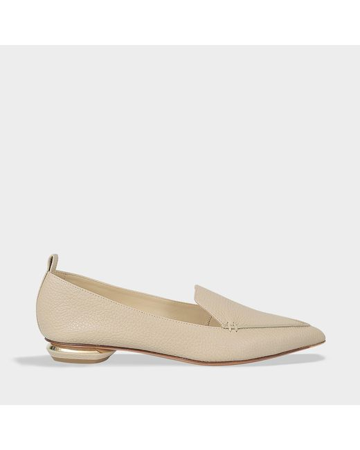 Nicholas Kirkwood - Natural 18mm Beya Loafers In Stone Calf Leather - Lyst