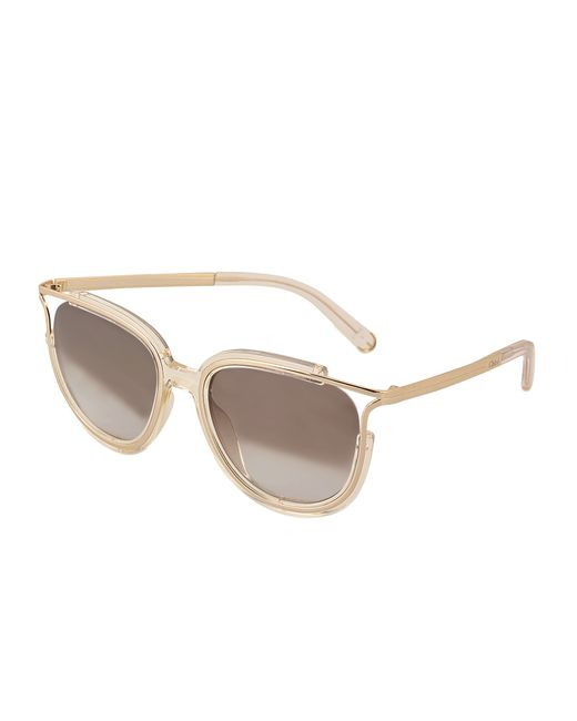 Chloe Ce688s Jayme Sunglasses in Gold Lyst