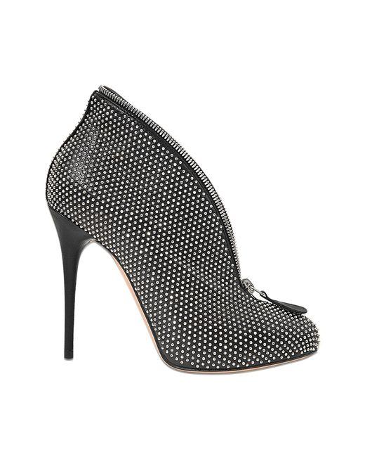 Alexander McQueen | Black Studded Platform Espadrille Wedge | Lyst