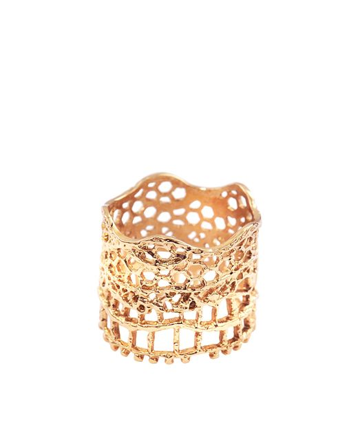 Aurelie Bidermann | Metallic Vintage Lace Ring | Lyst
