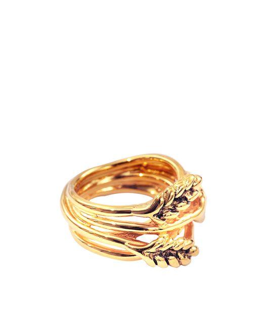 Aurelie Bidermann | Metallic Large Wheat Ring | Lyst