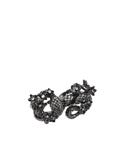 Roberto Cavalli   Metallic Snake Flowers Ring   Lyst