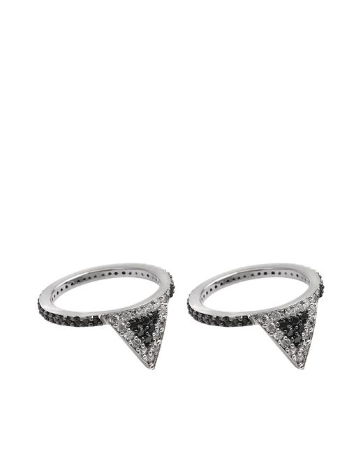 Joanna Laura Constantine | Black Americana Set Of Two Rings | Lyst